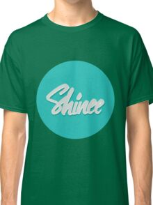 Shinee Brush Script Circle Classic T-Shirt