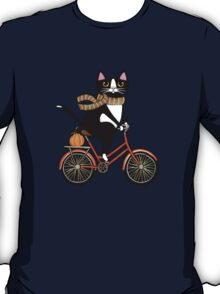 Cat on a Bicycle  T-Shirt