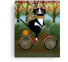 Cat on a Bicycle  Canvas Print