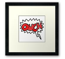 ouch comic book symbol Framed Print