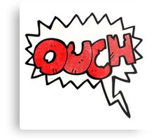 ouch comic book symbol Metal Print