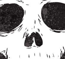 cartoon spooky skull drawing Sticker