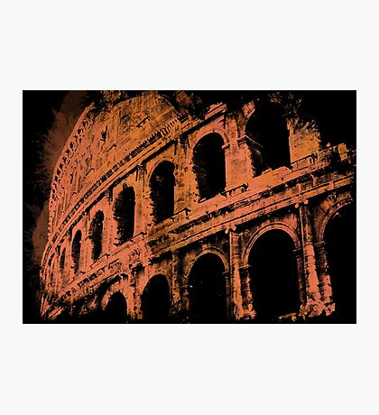 Rome - Colosseum in orange Photographic Print