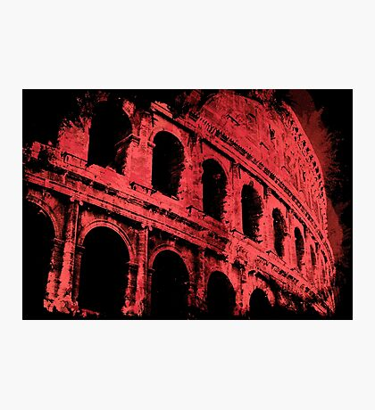 Rome - Colosseum in Red Photographic Print