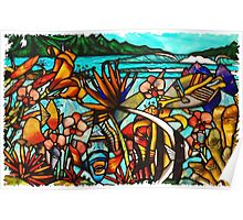 Hawaiian Stained Glass Poster