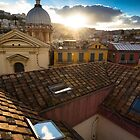 Panorama from the roofs of center of Naples by ssviluppo