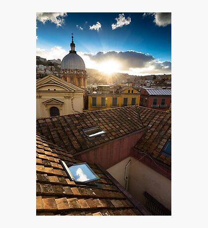 Panorama from the roofs of center of Naples Photographic Print