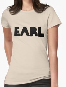 Earl Version 1 Black Ink Womens Fitted T-Shirt