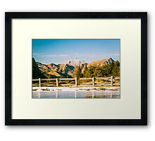 Iced lake in the alps Framed Print