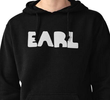 Earl White Ink Pullover Hoodie