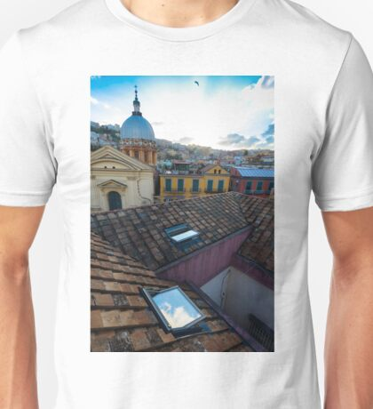 Panorama from the roofs of center of Naples, Italy Unisex T-Shirt