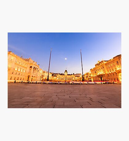 The square of Trieste during Christmas time Photographic Print