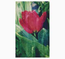 Red Tulip Motherboard Kids Tee