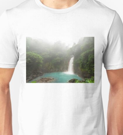 Waterfall deep in the jungle Unisex T-Shirt