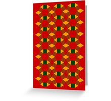 Tessellation bright christmas colours Greeting Card