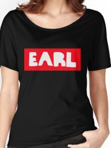 Earl Sweatshirt White on Red Women's Relaxed Fit T-Shirt