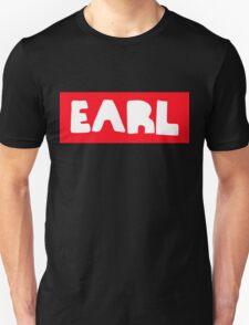 Earl Sweatshirt White on Red Unisex T-Shirt