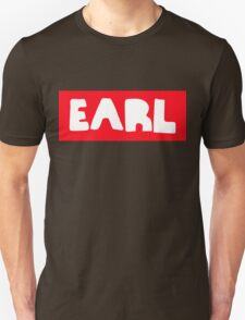 Earl Sweatshirt White on Red T-Shirt