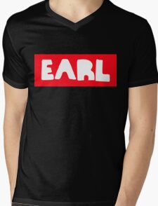 Earl Sweatshirt White on Red Mens V-Neck T-Shirt