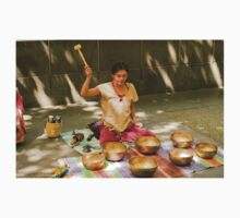 Playing Tibetan Singing Bowls Kids Clothes