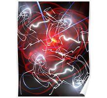 Layered Laser Light Mark Poster