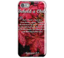 Behold a Child iPhone Case/Skin