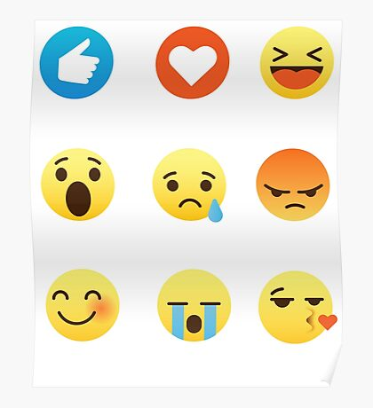 I Like, I Love Seattle Washington Funny Graphic Tee Shirt Emoji Emoticon Poster
