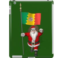Santa Claus With Ensign Of Los Angeles iPad Case/Skin