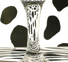 Glass Distortion with Spots and Stripes  by Elaine Farmer
