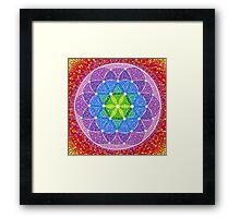 Sunny Flower of Life Framed Print