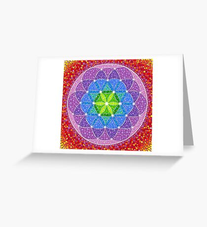 Sunny Flower of Life Greeting Card