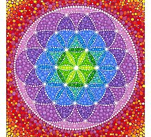 Sunny Flower of Life Photographic Print
