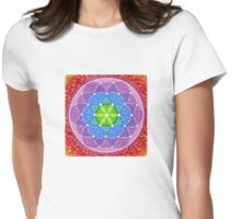 Sunny Flower of Life Womens Fitted T-Shirt