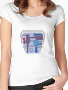 Arctic B.A.T. Battle Android Trooper Women's Fitted Scoop T-Shirt