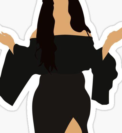 Selena Black Dress Sticker