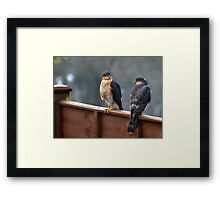 I'm not back to front - you are Framed Print