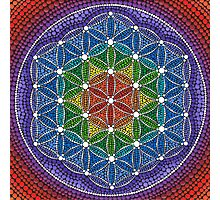 Rainbow Flower of Life Photographic Print
