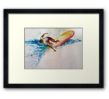 surfing safari Framed Print