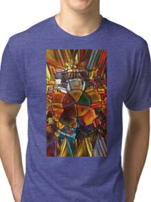 Psychedelic Stained Glass Tri-blend T-Shirt