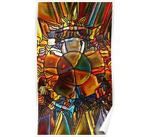 Psychedelic Stained Glass Poster