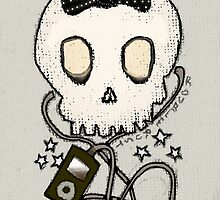 Girly Skull with Black Bow / Die for Music by ROUBLE RUST