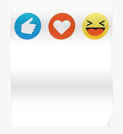 I Love Music Emoji Emoticon Graphic Tee Shirt Funny Poster