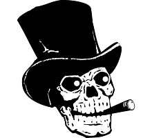 Skull hat and cigar Photographic Print