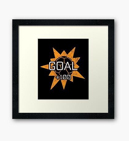 Rocket League Video Game Goal +100 Funny Gifts Framed Print