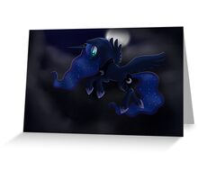 My little Pony: Friendship is Magic - Princess Luna - Night Flight Greeting Card
