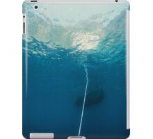 Underwater seascape of an hawser linked to anchor, mediterrean sea iPad Case/Skin