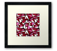 Abstract geometric triangles pattern . 6  Framed Print