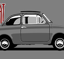 Classic Fiat 500F grey by car2oonz