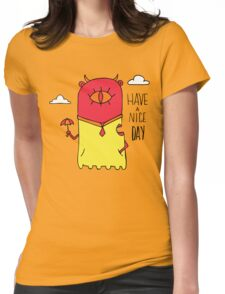 Have a Nice Day Illustration Womens Fitted T-Shirt