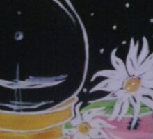 Lamp and Flowers Sticker